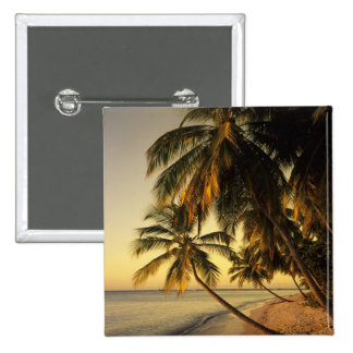 Beach at sunset, Trinidad 2 Inch Square Button
