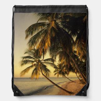 Beach at sunset, Trinidad Cinch Bags