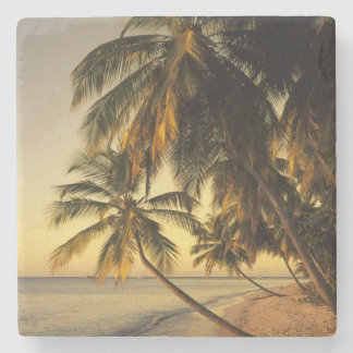 Beach at sunset, Trinidad Stone Beverage Coaster