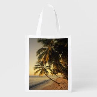 Beach at sunset, Trinidad Grocery Bag