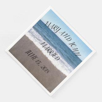 Beach At The Ocean Wedding Paper Dinner Napkin