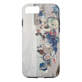 Beach at Yport, 1878 (oil on canvas) iPhone 7 Case