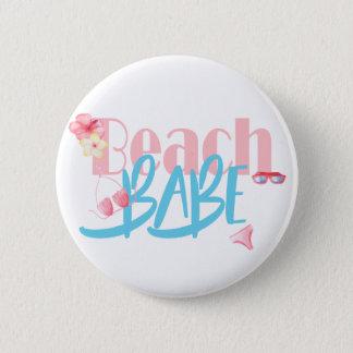 Beach-Babe.gif 2 Inch Round Button