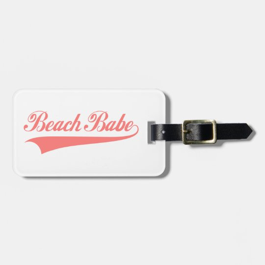 Beach babe luggage tag