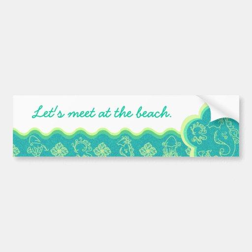 Beach Baby Aqua Bumper Sticker