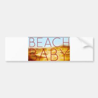 Beach baby bumper sticker