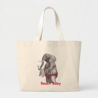 Beach Baby Jumbo Tote Bag