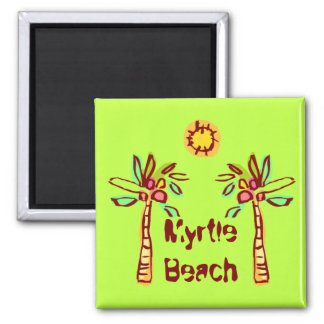 Beach Baby Square Magnet