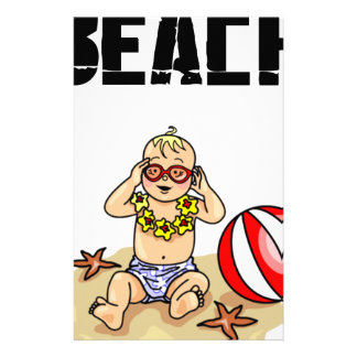 Beach Baby Stationery