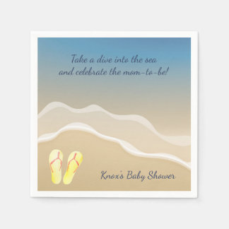 Beach Baby Themed Napkins- Baby Shower Ideas Disposable Napkins