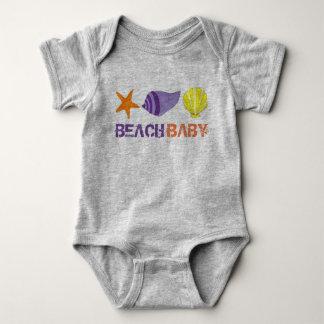 BEACH BABY Vacation Starfish Sea Shell Seashell Baby Bodysuit