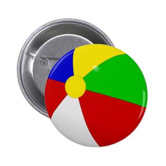 Beach Ball 2 Inch Round Button