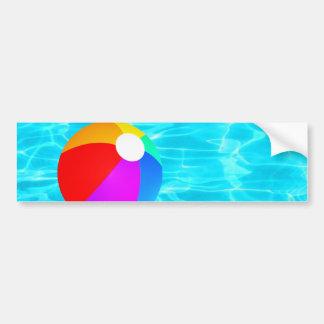 Beach Ball Bumper Sticker