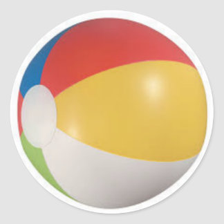 Beach Ball Classic Round Sticker