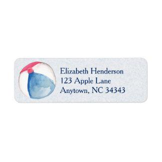 Beach Ball Custom Return Address Label