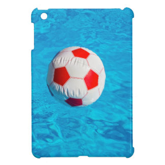 Beach ball floating  in blue swimming pool iPad mini case