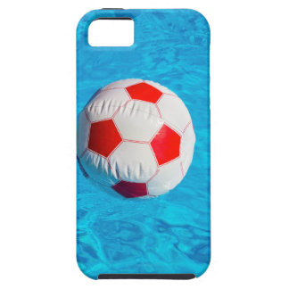 Beach ball floating  in blue swimming pool iPhone 5 case