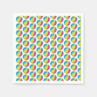 Beach Ball Pattern | Pool Party | Beach Theme Napkin