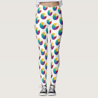 Beach Ball Polka Dots - Fun Summer Print Leggings