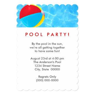 Beach Ball Pool Party Card