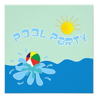 Beach Ball Pool Party Invitations