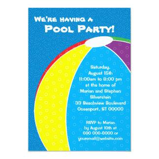 Beach Ball Summer Party Invitation