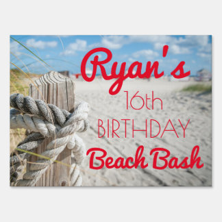 Beach Bash Sign