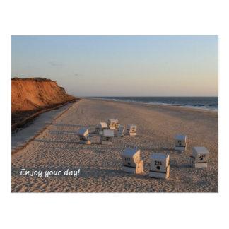 Beach - Beach, beach chair, Sylt Postcard