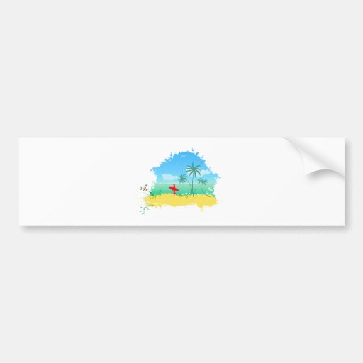 Beach beach bumper stickers