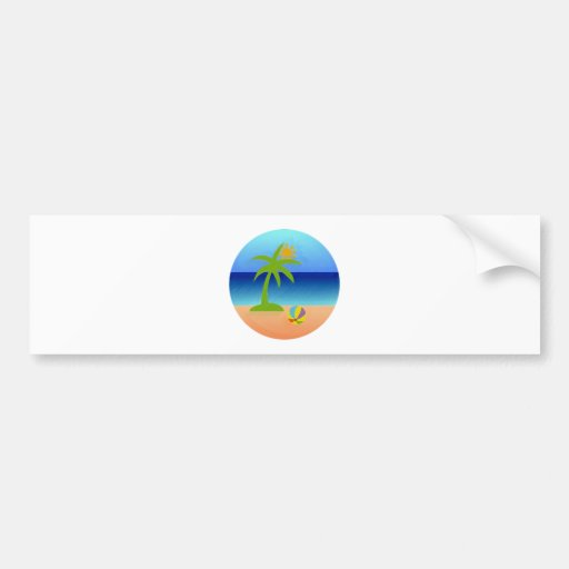 Beach beach bumper sticker
