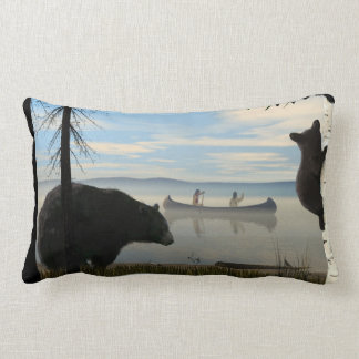 Beach Bears Lumbar Pillow