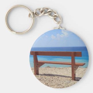 Beach bench keychain