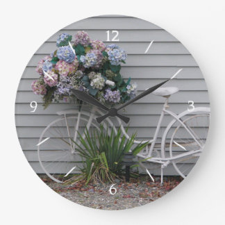 Beach Bicycle Large Clock
