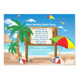 Beach Billboard Invitation