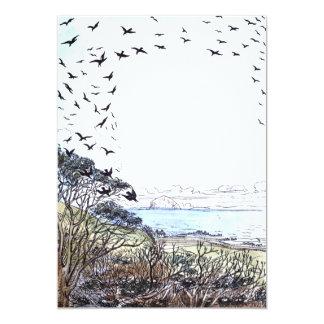 Beach Birds Artwork Card