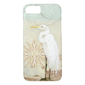 Beach Birds Nautical Art Great Egret Coastal Shore iPhone 7 Case