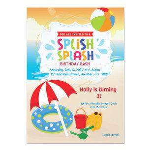 Birthday invitations announcements zazzle ca beach birthday invitation beach party stopboris Image collections