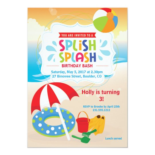Beach Birthday Invitation • Beach Party