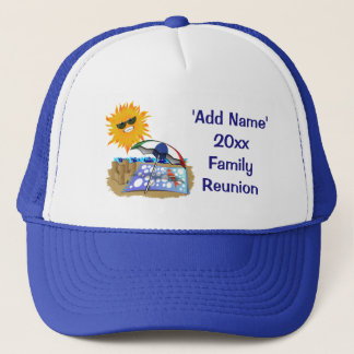 Beach Blanket And Sun Family Reunion Trucker Hat