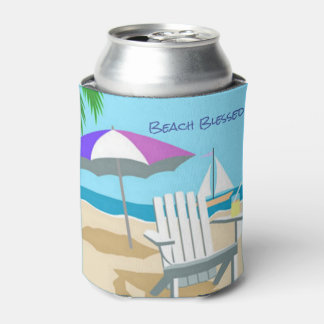 Beach Blessed Can Cooler