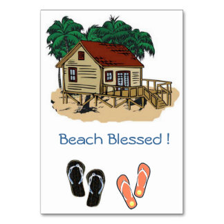 Beach Blessed Invite Table Card