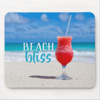 Beach Bliss Tropical Cocktail Mouse Pad