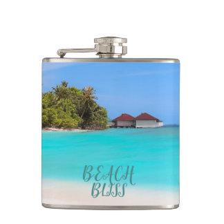 Beach Bliss Tropical Hip Flask