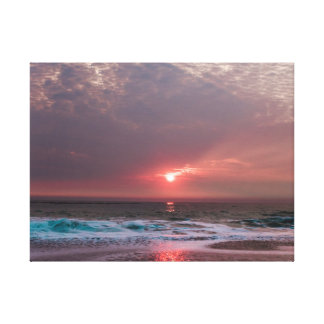 Beach Bliss Tropical Paradise Sunset Canvas Print