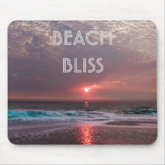 Beach Bliss Tropical Paradise Sunset Editable Mouse Pad