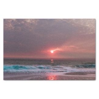 Beach Bliss Tropical Paradise Sunset Seascape Tissue Paper