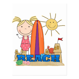 BEACH - Blond Girl Tshirts and Gifts Postcard
