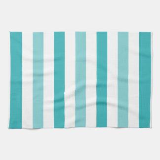 Beach Blue Turquoise Stripes Kitchen Towel