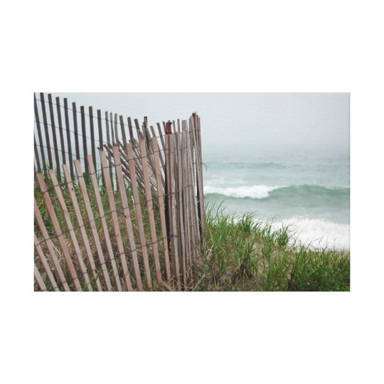 Beach Border Canvas Print