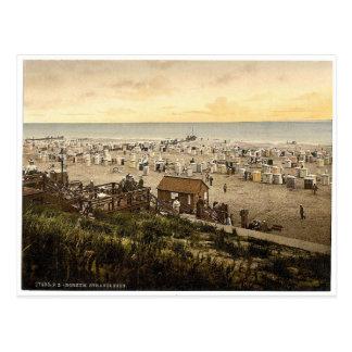 Beach, Borkum, Schleswig-Holstein, Germany rare Ph Postcard